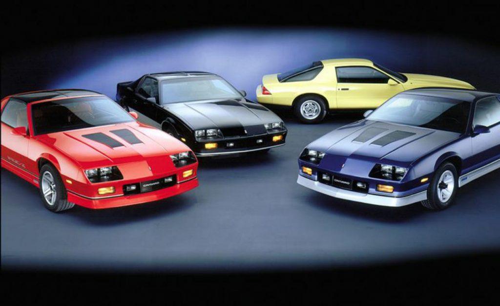 1987 Chevrolet Camaro lineup